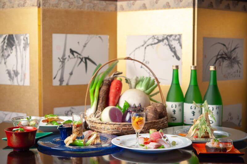 『高級食材と京野菜の会席コース』のご案内
